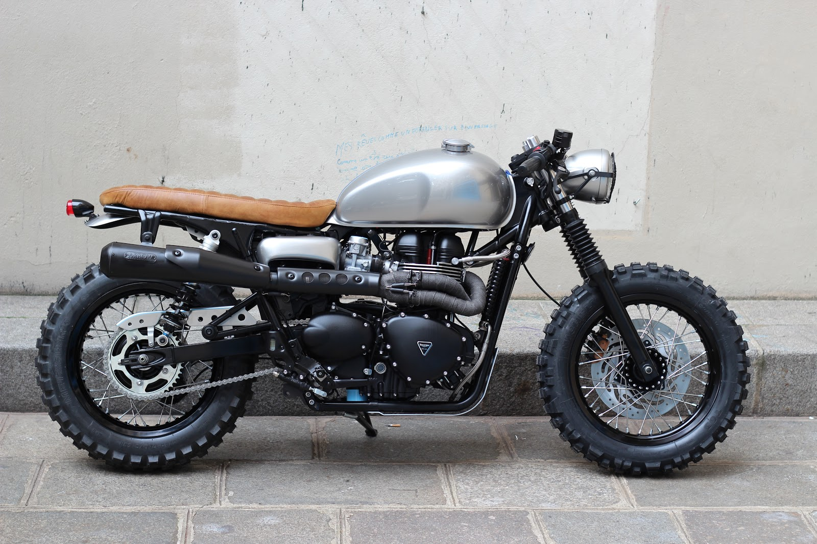 Custom Cafe Racer : Triumph cafe tracker way speed