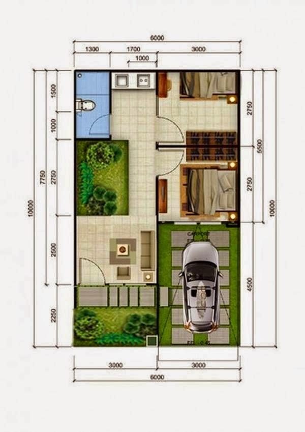 Rumah minimalis Type 36 8