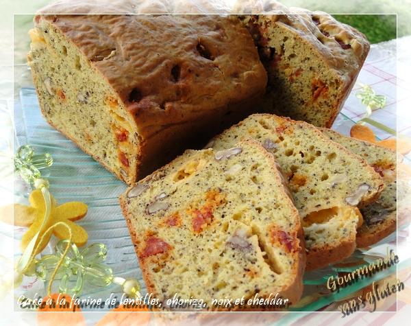 Cake à la farine de lentilles sans gluten