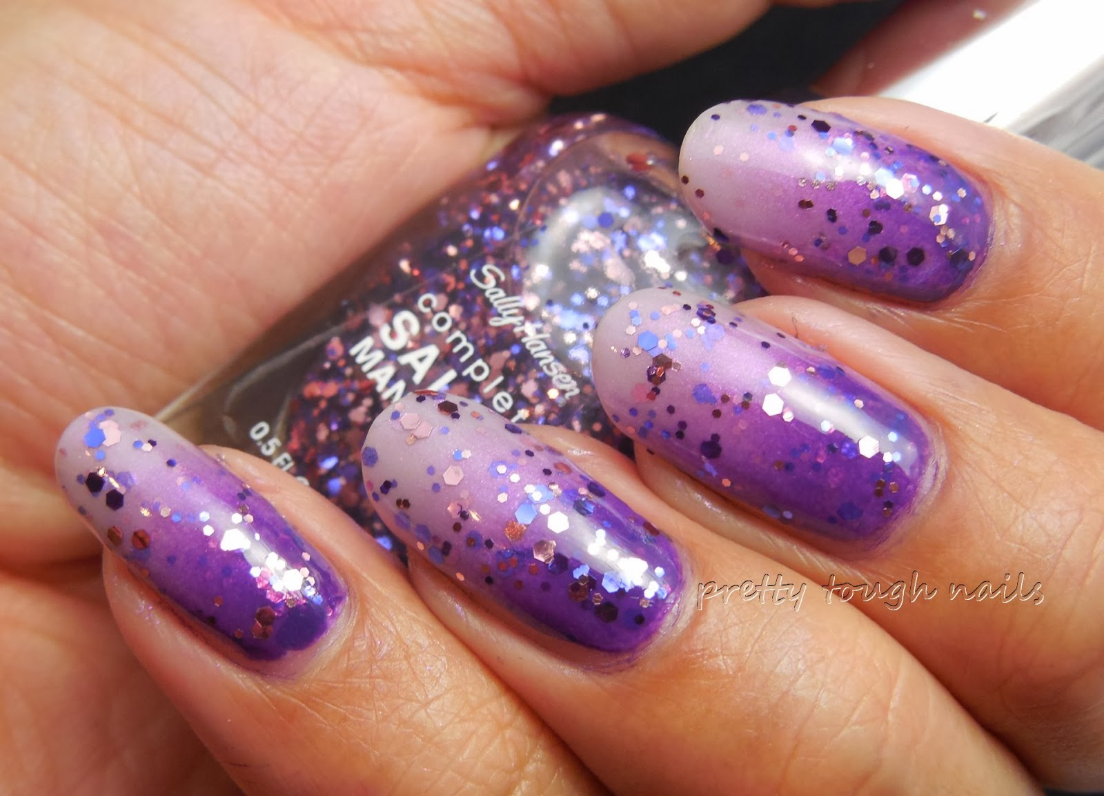 Sally Hansen Fa-la-la Lavender Over Gradient