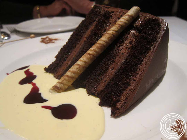 image of chocolate hazelnut cake at The Capltal Grille in Midtown, NYC, New York