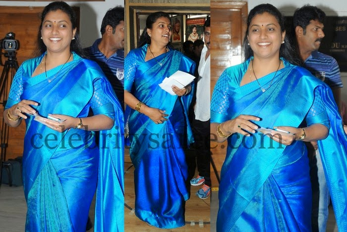 Roja Blue Crepe Silk Saree