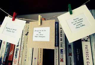 book and a cuppa, bookandacuppa, book&cuppa, Book & a Cuppa, uotes from book, bunting, DIY, Instructions, idea, display, home decor, decoration, idea, bunting