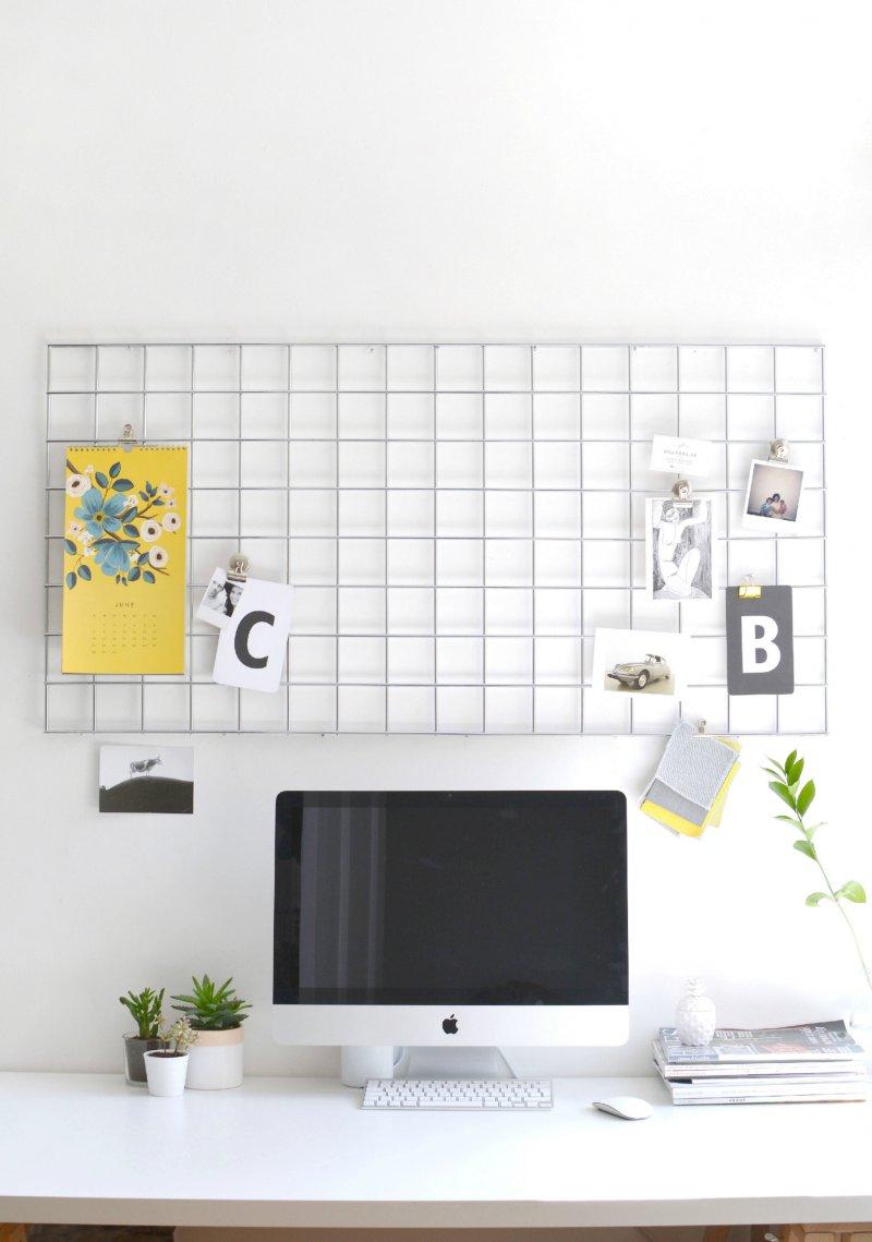 DIY home office memo board burkatron DIY lifestyle blog