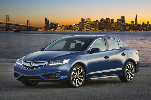Front 3/4 view of the 2016 Acura ILX