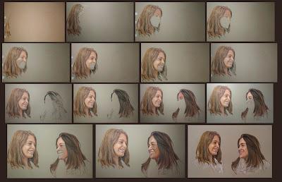 Proceso de la realización de un retrato