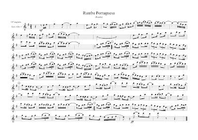 Diegosax Partituras Rumba Portuguesa Partitura para saxofón alto y saxo tenor