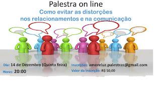 PRÓXIMA PALESTRA ON LINE - 14 DE DEZEMBRO