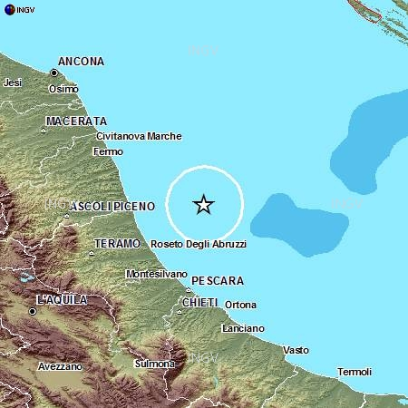 Terremoto mar Adriatico
