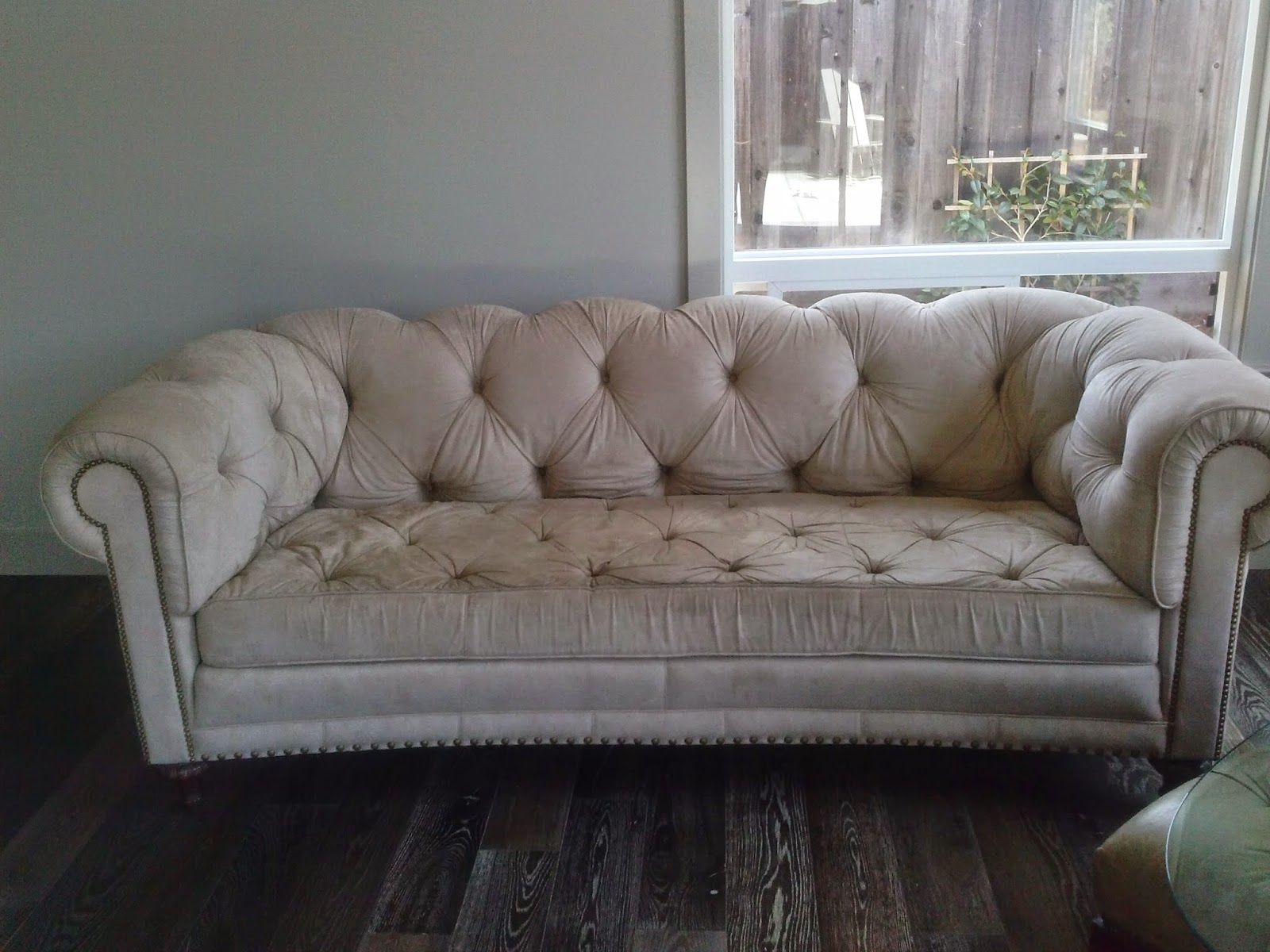 The Shape And Tufting Of This Chesterfield Sofa Are Lovely And We Were  Happy That They Wanted To Salvage It, Rather Than Purchase A New Couch.