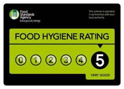 5 rating for food hygiene