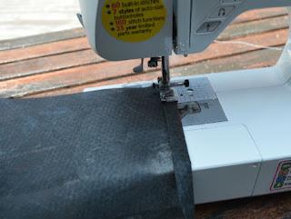 Step 4. Sew side and bottom. Grow bag ...
