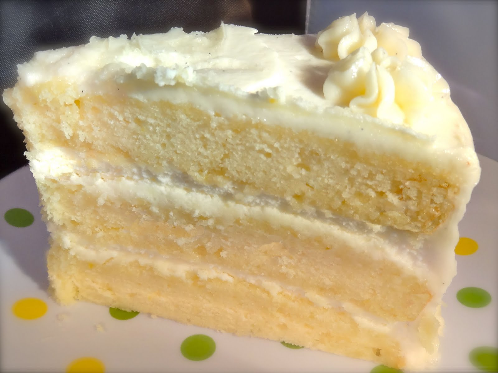 Star's Flour Power: Lemon layer cake with lemon mousse filling ...
