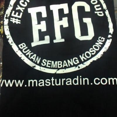 Tshirt EFG, BUKAN SEMBANG KOSONG