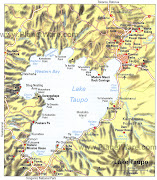 Home » North Island » Taupo New Map Zealand City