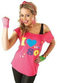 I Love The 80s womens T-shirt  sc 1 st  80sfashion.info & 80sfashion.info: 80s Workout and Dance Clothes