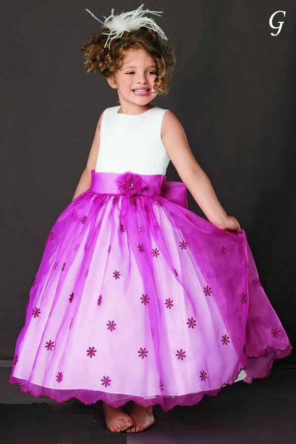 Babies Pictures-Purple-ball-gown-flower-girl-dresses