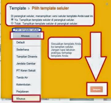 Setelan Template Blog Agar Responsive