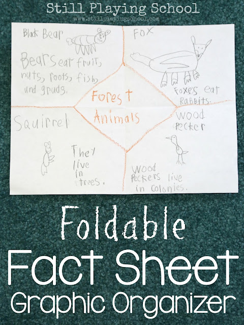 Use this foldable fact sheet graphic organizer to demonstrate learning