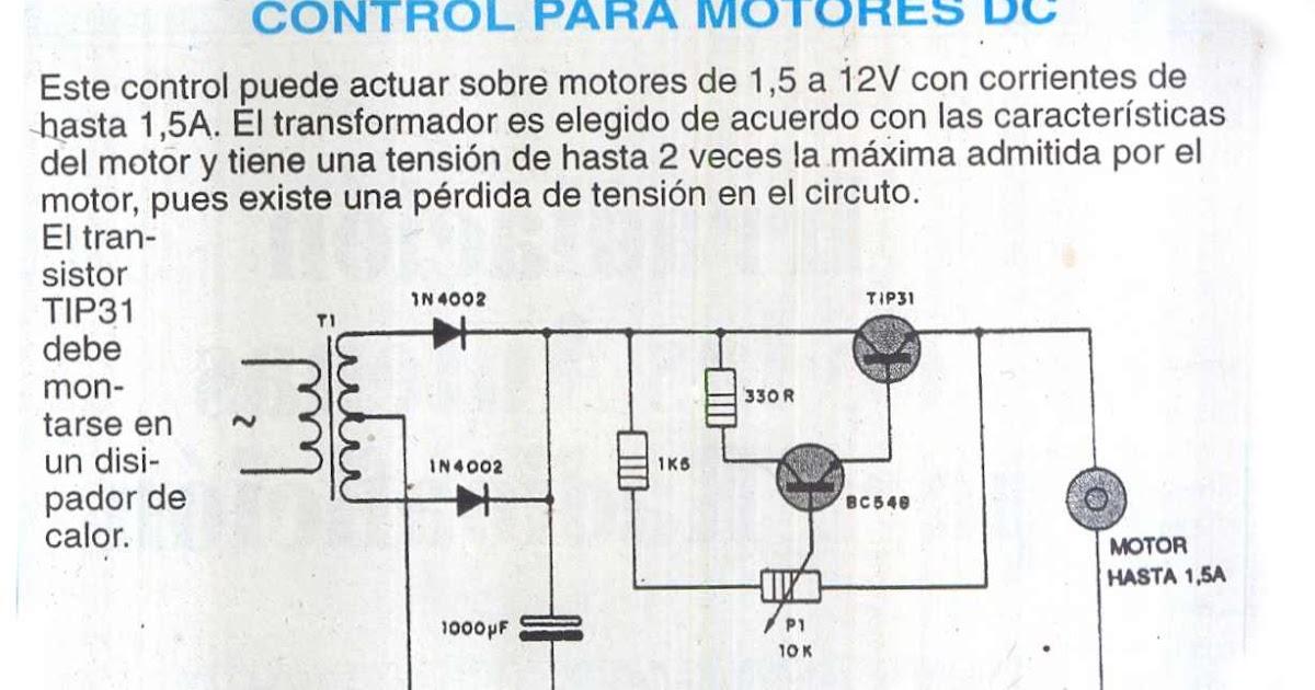 fichas de circuitos electr u00f3nicos  control para motores cd