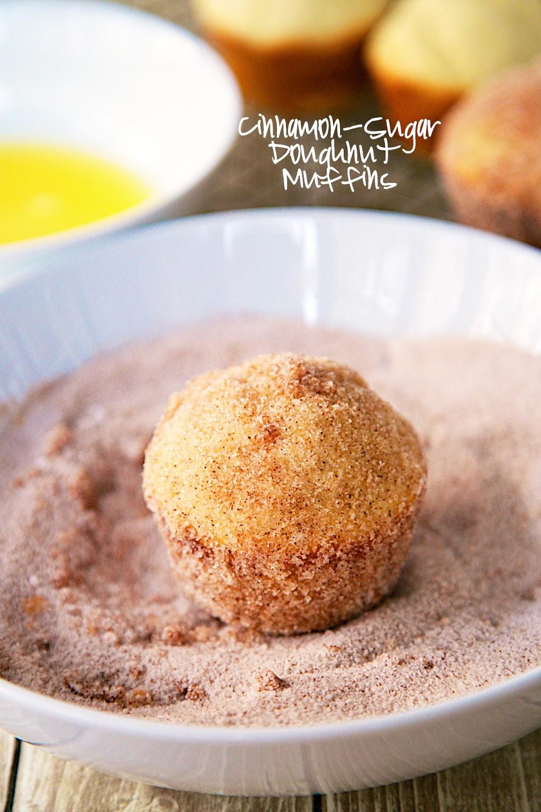 Cinnamon-Sugar Doughnut Muffins Recipe - baked doughnut muffins coated ...