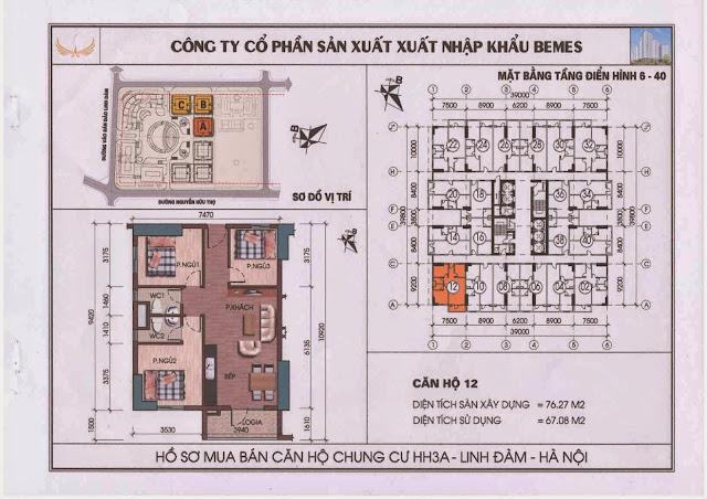 Căn hộ 12 - Chung Cư HH3A Linh Đàm