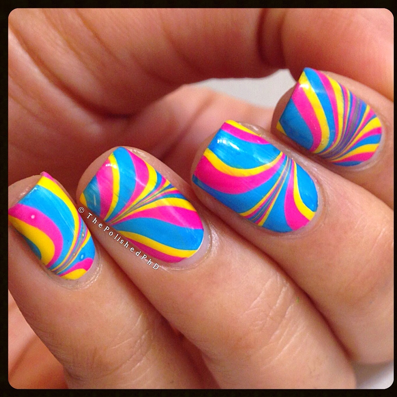 Neon Watermarble using Sinful Colors | The Polished PhD