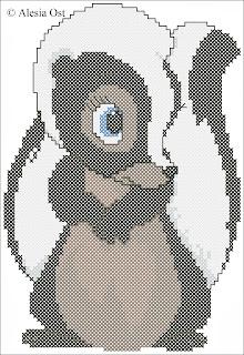 Free cross-stitch patterns, Flower the Skunk, skunk, animal, Bambi, Disney, cartoon, cross-stitch, back stitch, cross-stitch scheme, free pattern, x-stitchmagic.blogspot.it, вышивка крестиком, бесплатная схема, punto croce, schemi punto croce gratis, DMC, blocks, symbols
