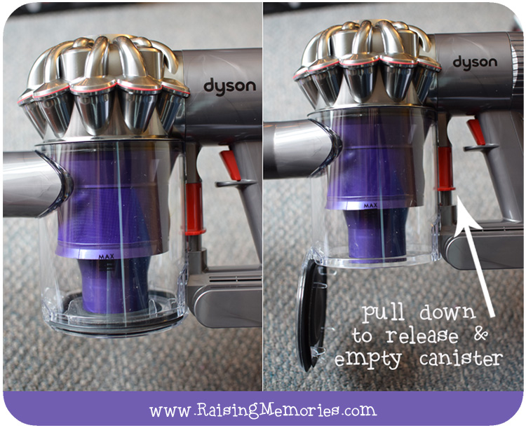 how to take apart dyson animal canister