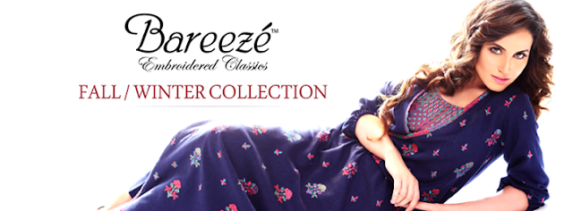 Bareeze Embroidered Classic Fall/Winter collection 2013