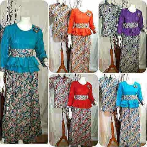 Baju Batik Gamis Pasangan Suami Istri Busana Baju Batik