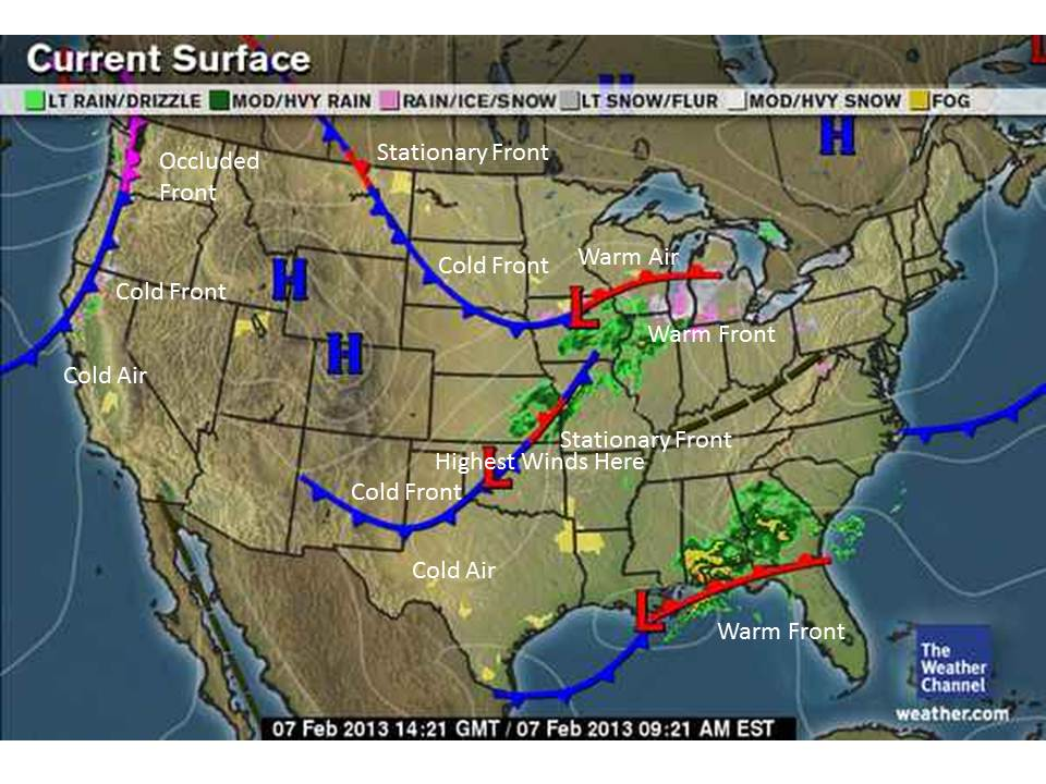 Us Weather Map Fronts - Current us weather