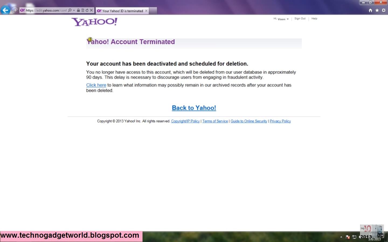 Delete yahoo account permanently - 130.4KB