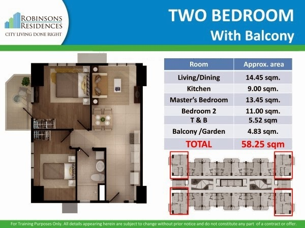 Delta Residences Davao - Two Bedroom with balcony
