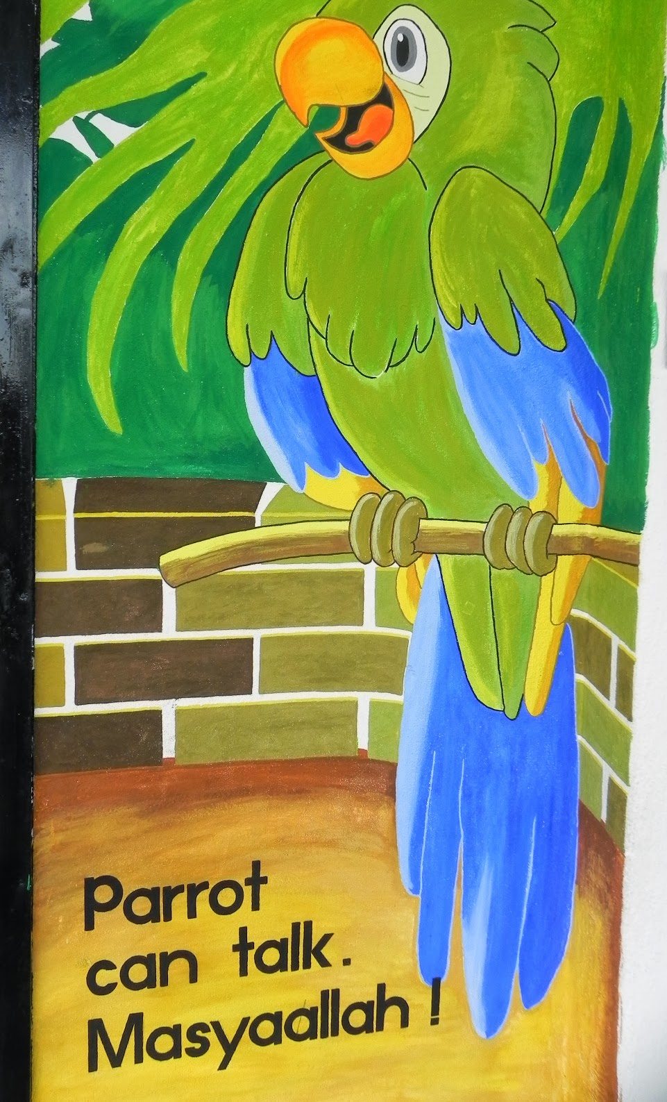 Inspirasi mawaddah jika ke bilik air pun for Contoh lukisan mural tadika
