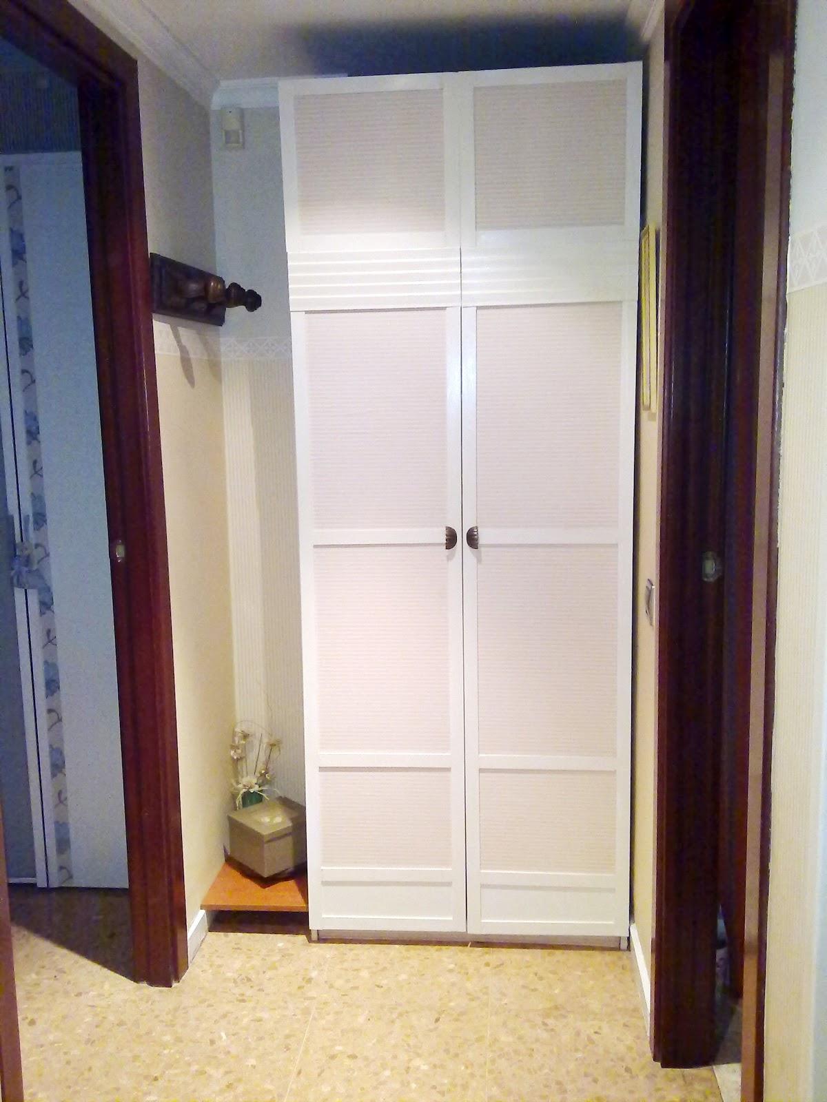 Decora tu vida diy cambio de decoraci n el recibidor - Armario escobero cocina ...