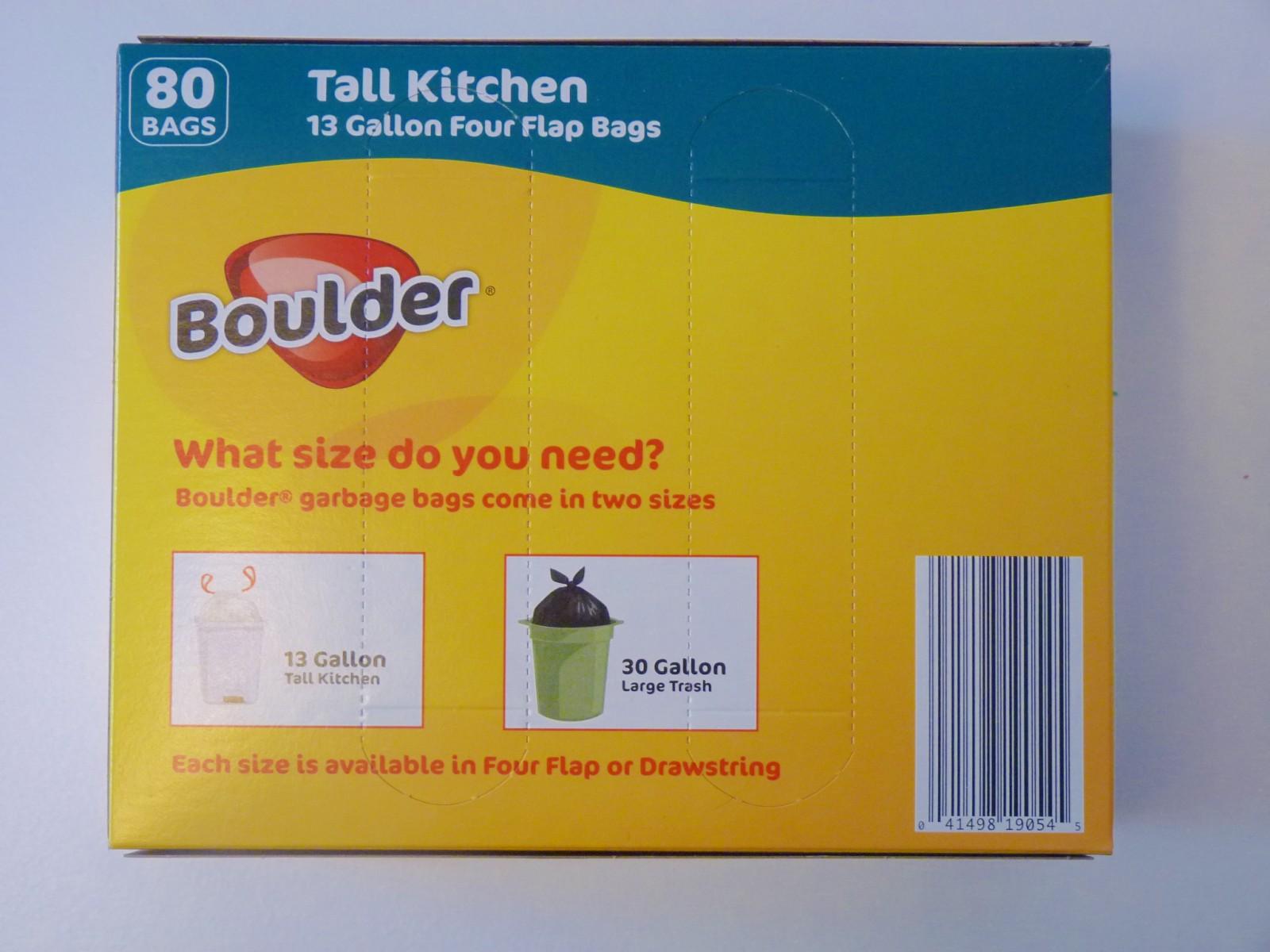 Boulder Four Flap 13 Gallon Garbage Bags Aldi Product