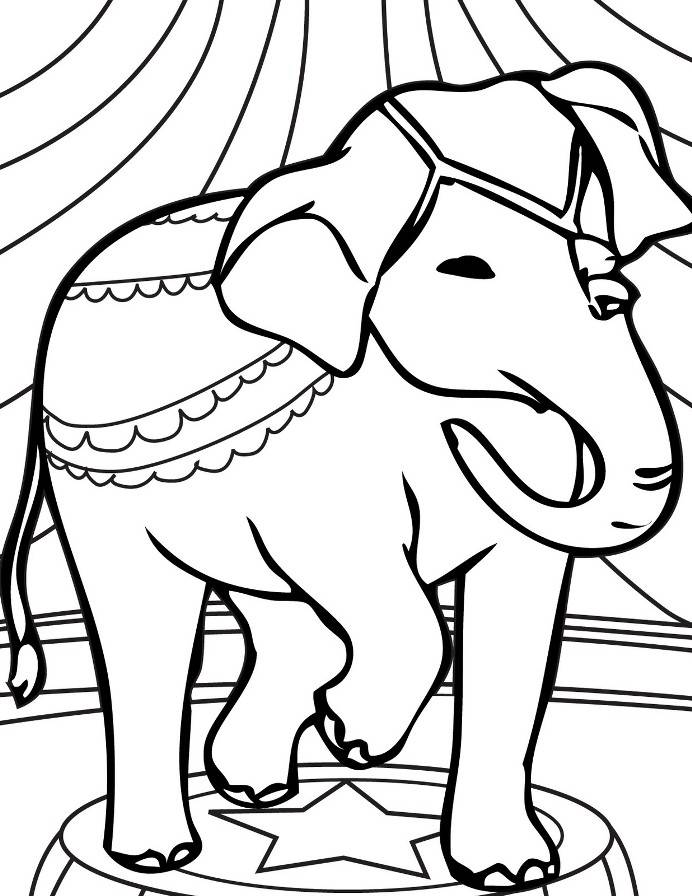 circus animal coloring pages - coloring kids page