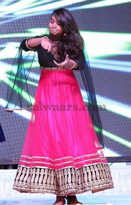 Rajashekar Daughter Pink Salwar