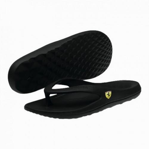 sandal puma terbaru warna hitam, foto sandal puma