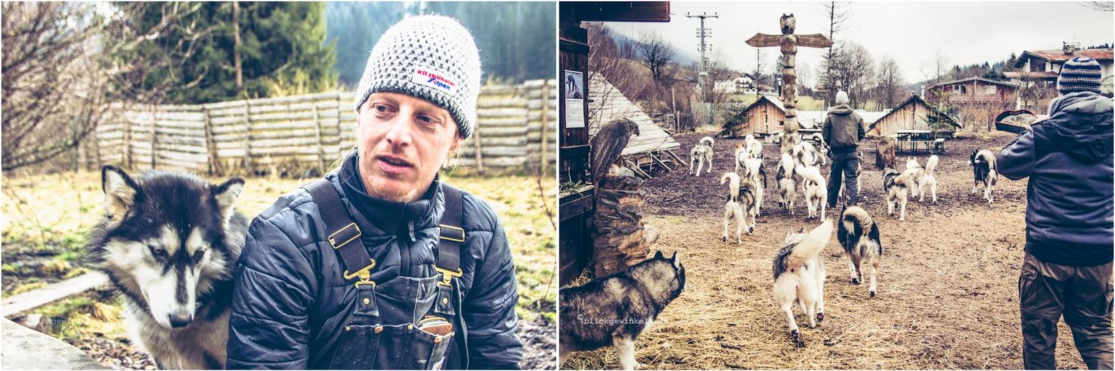Martin Eigentler auf der Husky Ranch in Angerberg