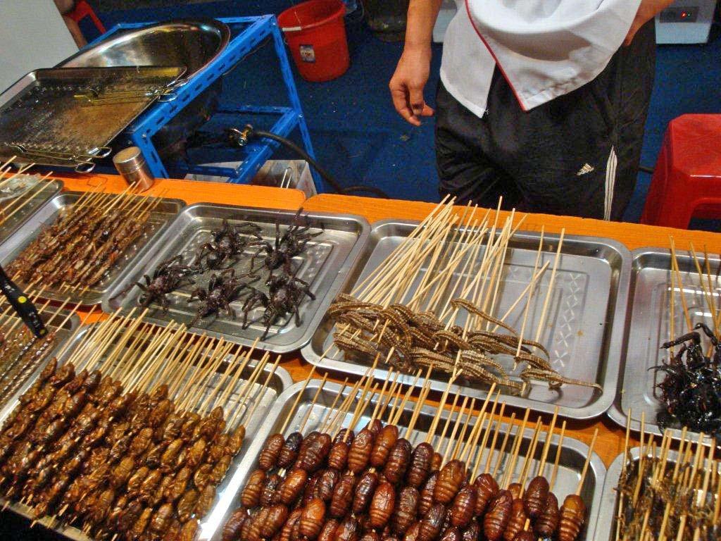 Bug market in Cambodia