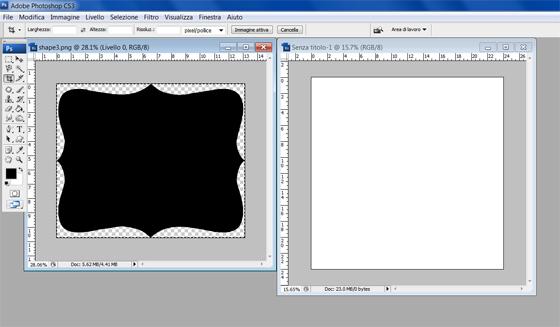 Ricomincio da tre come inserire una foto in una forma for Cornici per 3 foto