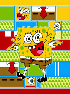 Selimut Soft Panel Rosanna Spongebob