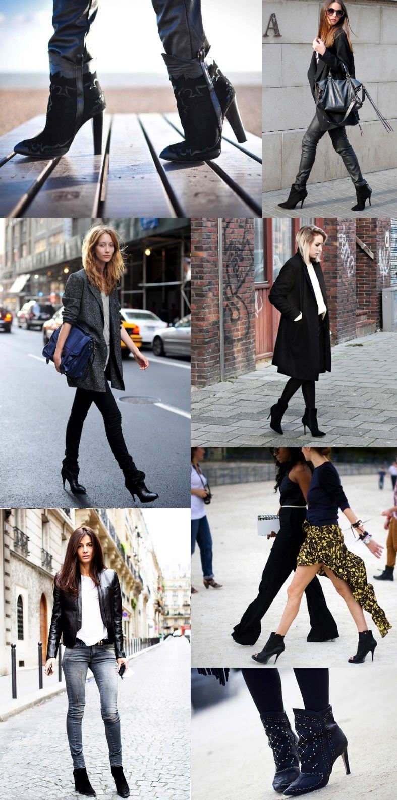 pointy black boots zara streets style