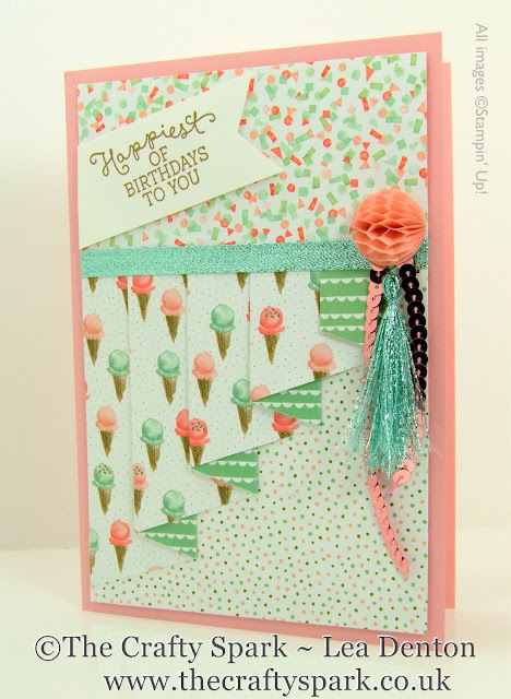 birthday bouquet pleat fold card stampin up uk