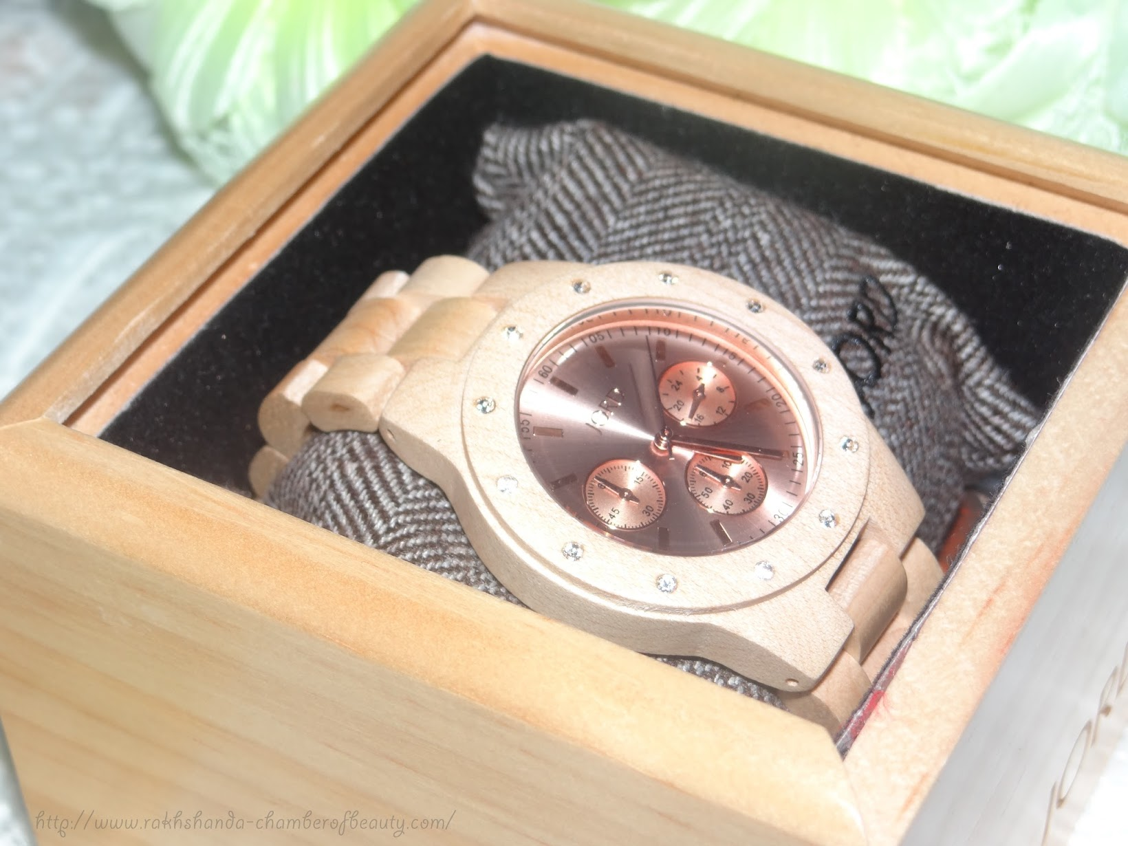 Wooden Timepiece from JORD- review, photos | Sidney Maple & Rose Gold, Jord wood watches review, wooden watches, Indian fashion blogger, Chamber of Beauty