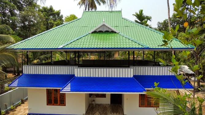 Krishna engineering works truss work roofing work contractors in palakkad kerala - Home design sheets ...