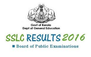 Kerala SSLC Exam Results 2016