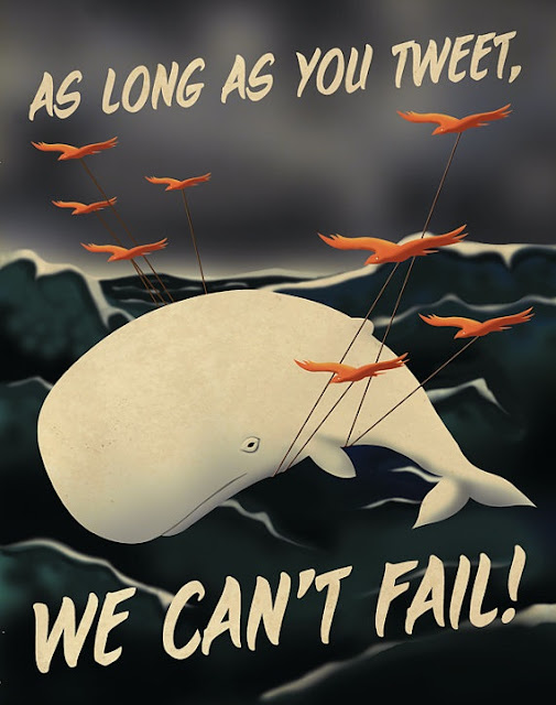 Social media propaganda posters from designer Aaron Wood